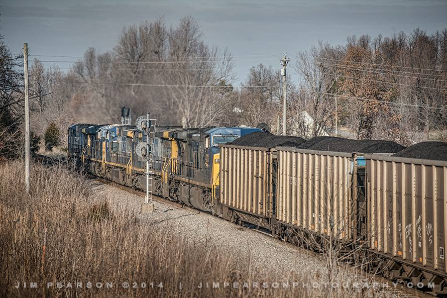 December 20, 2014 - A loaded CSX coal train