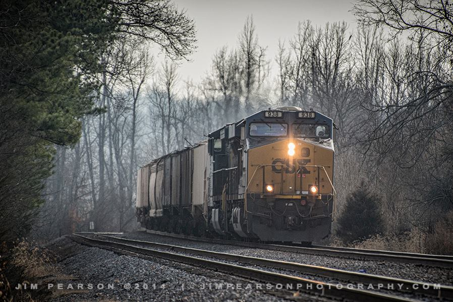 December 20, 2014 - A northbound empty CSX grain train