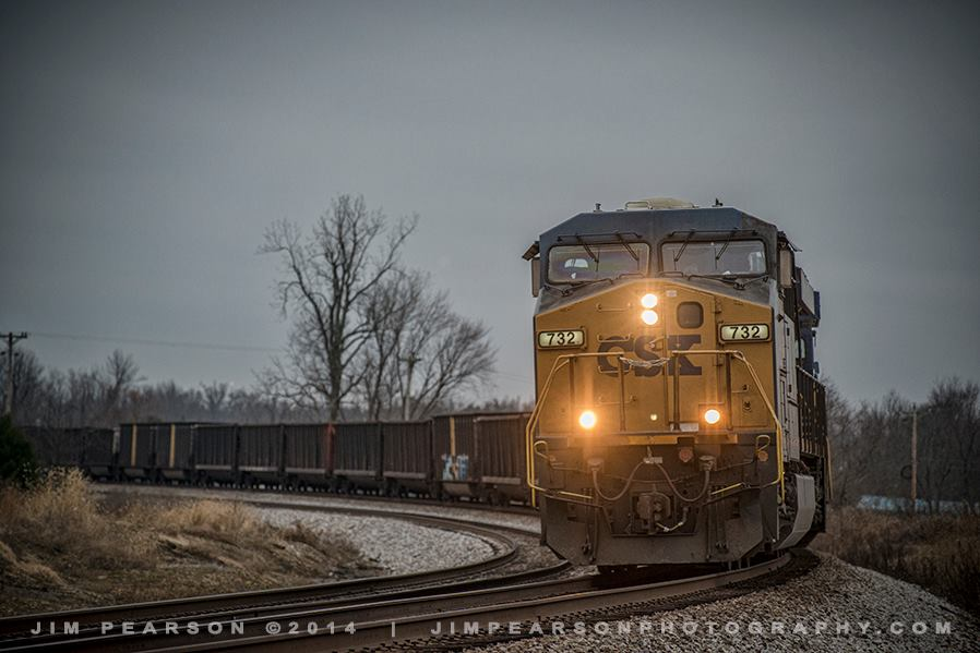 December 22, 2014 - A empty CSX coal train