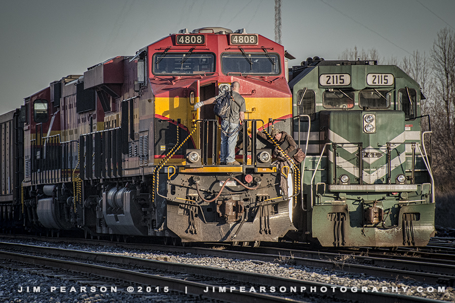 01.19.15 KCS 4808 at West Yard, Madisonville, Ky