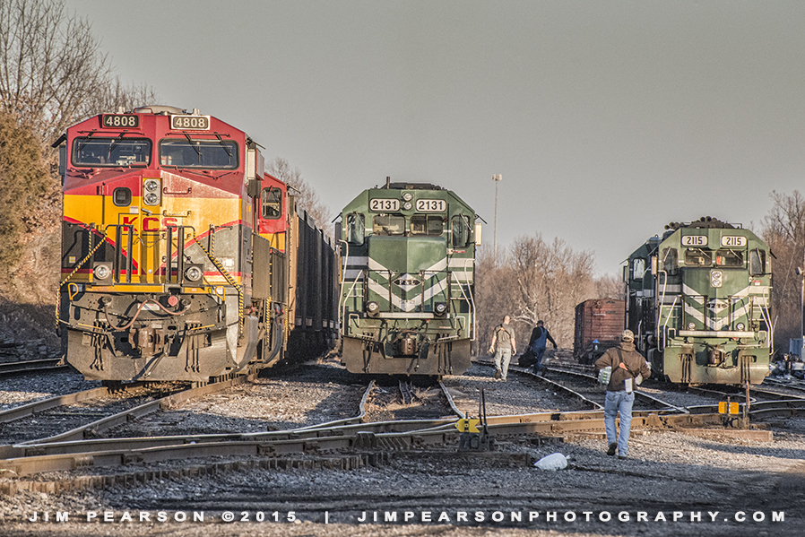 01.19.15 KCS 4808 at West Yard area, Madisonville, Ky