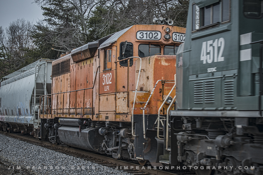 01.22.15 Former CSX MOW LLPX 3102 on PAL at J155.5, Richland, Ky