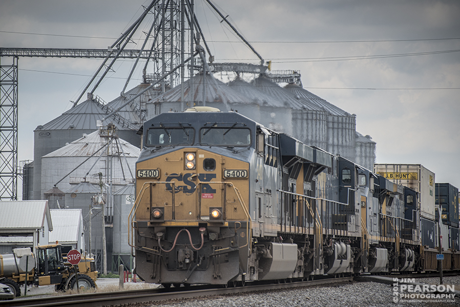 June 29, 2015 - CSX intermodal Q028-28 passes through Pembroke, Ky as engine 5400 leads it south on the Henderson Subdivision. - Tech Info: 1/1600 sec, f/5, ISO 280, Lens: Nikon 70-300 @ 185 mm with a Nikon D800 shot and processed in RAW. ?#?jimstrainphotos?