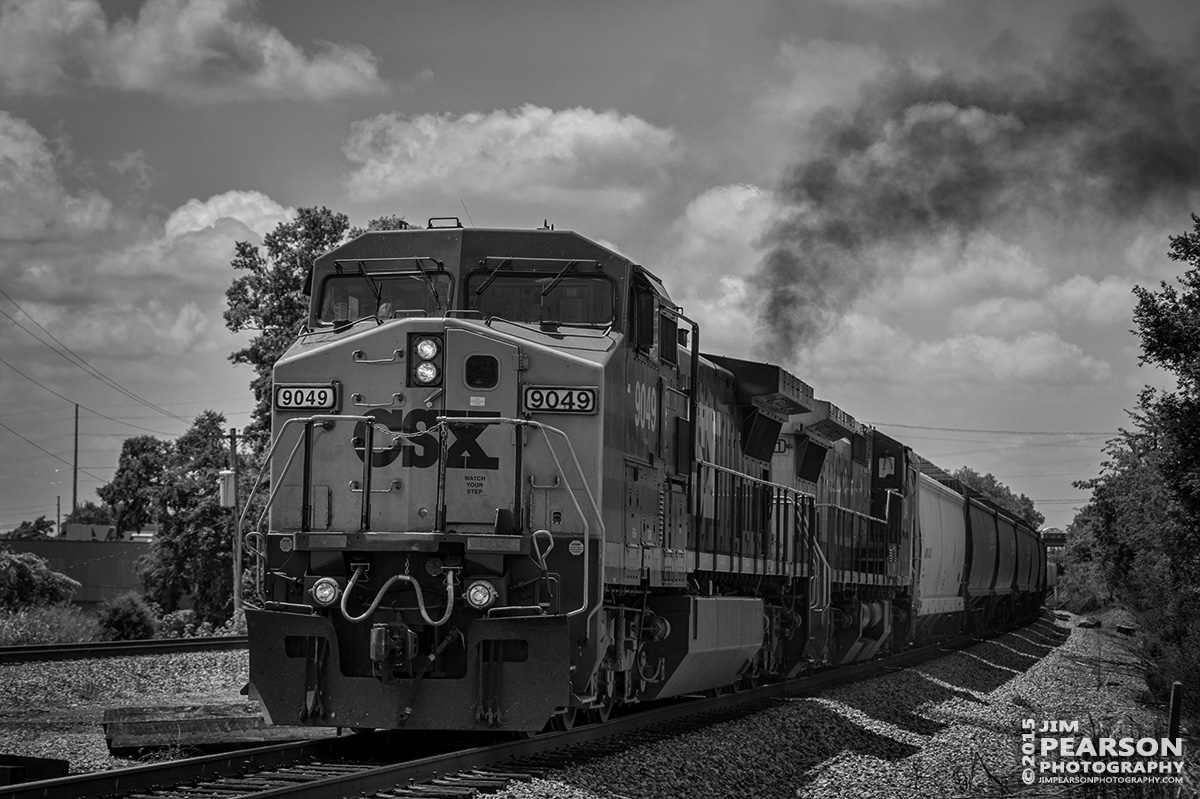 July 16, 2015 - CSX Q592 approaches the Williams Avenue crossing at Amqui, Tennessee as it moves north with it's manifest train. - Tech Info: 1/1600sec, f/4.5, ISO 250, Lens: Nikon 70-300 @ 70mm with a Nikon D800 shot and processed in RAW