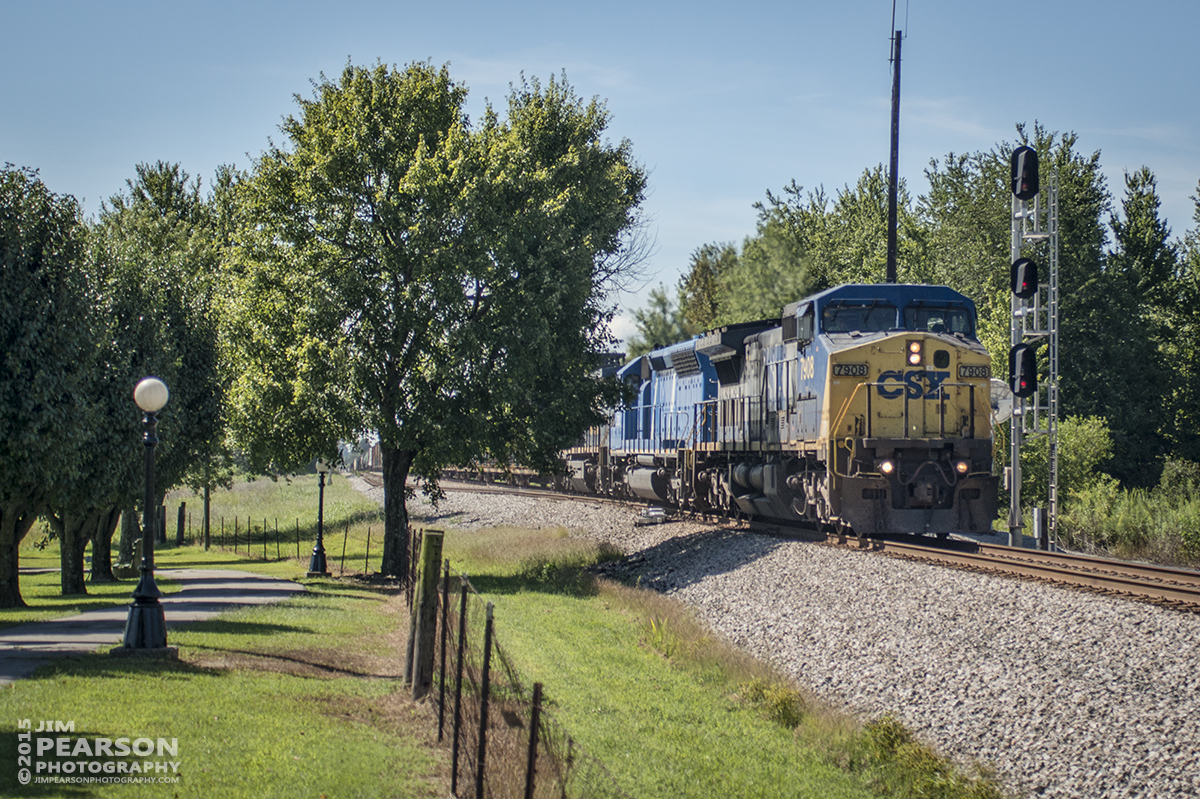 August 20, 2015 - CSX Q294 heads through the north end of Crofton, Ky as it heads north on the Henderson Subdivision. - Tech Info all photos: 1/2500sec, f/4, ISO 180, Lens: Sigma 24-70 @ 40mm with a Nikon D800 shot and processed in RAW.