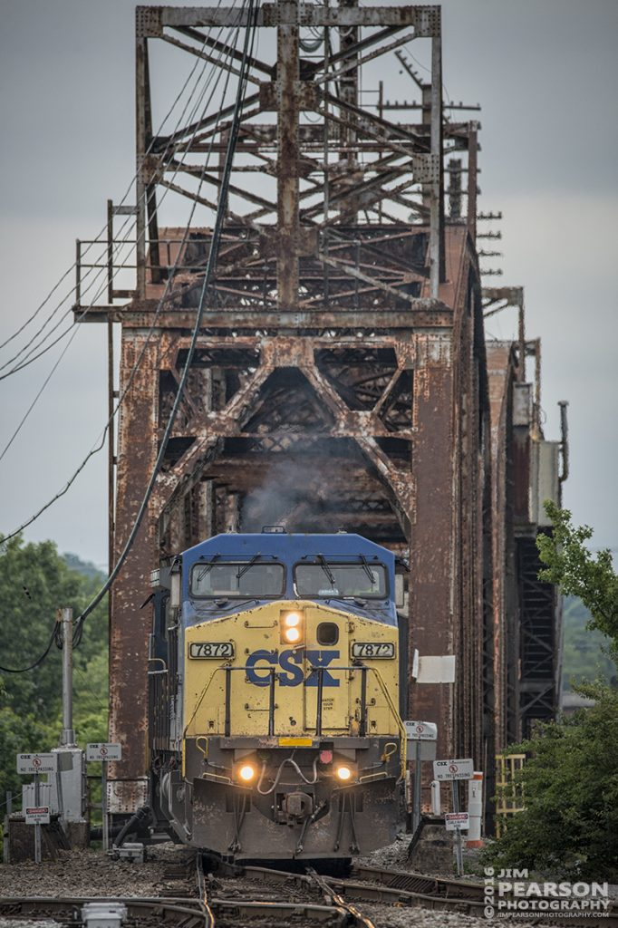 May 18, 2016 - CSX Q647 (Chicago, IL - Nashville, TN) heads south across CR Drawbridge in downtown Nashville, Tennessee as it makes its south to Radnor Yard.  - Tech Info: 1/1250 | f/6 | ISO 720 | Lens: Sigma 150-600 @ 450mm on a Nikon D800 shot and processed in RAW.