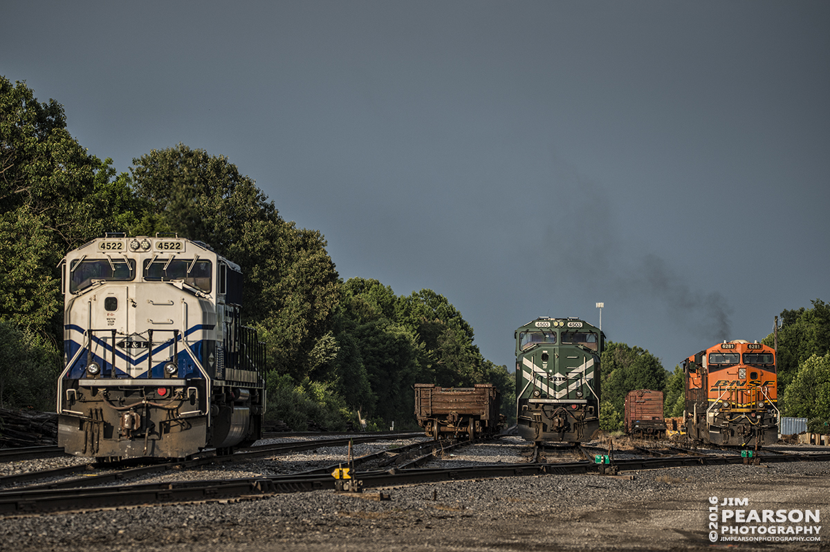 June 15, 2016 – The late evening sun broke through the clouds and provided this beautiful light on the power sitting at Paducah and Louisville Railways West Yard in Madisonville, Ky while the sky was still dark in the distance. Storm light can produce some of the most spectacular photos, you just have to get out the door!. - Tech Info: 1/500 | f/5.3 | ISO 100 | Lens: Sigma 150-600 @ 200mm with a Nikon D800 shot and processed in RAW.