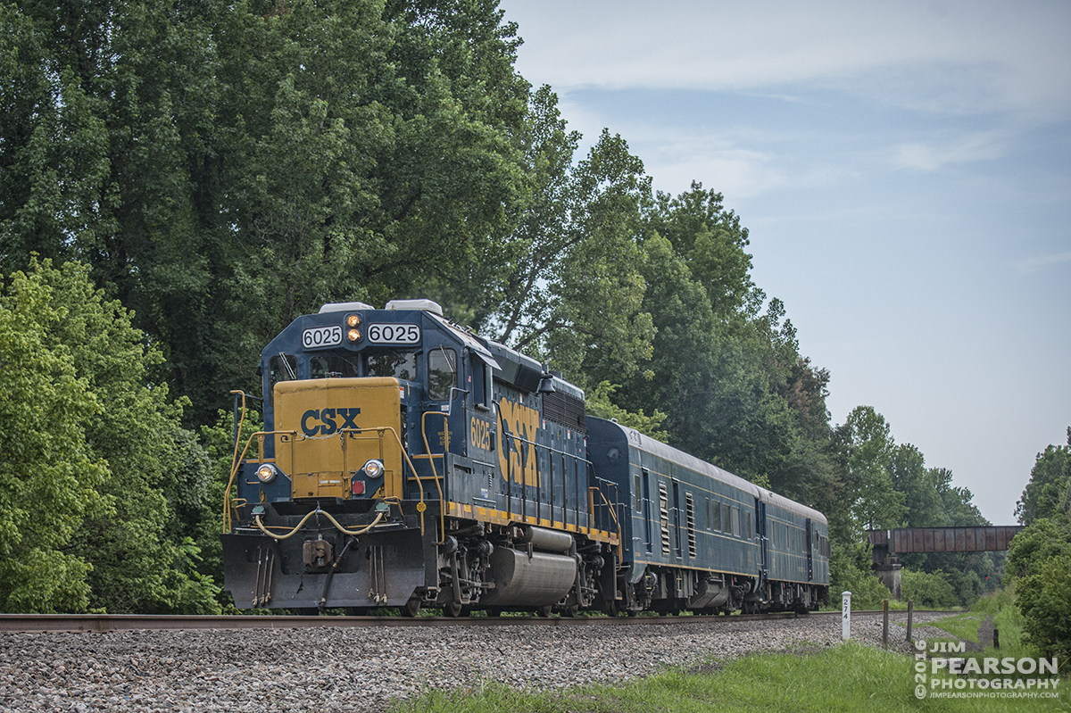 July 18, 2016 – CSX Geometry Train W001-18 heads north on the Henderson Subdivision after passing Monarch (where the Paducah and Louisville Railway passes over the CSX) at Madisonville, Ky. - Tech Info: 1/2500 | f/4.5 | ISO 1000 | Lens: Nikon 70-300 @ 70mm with a Nikon D800 shot and processed in RAW.