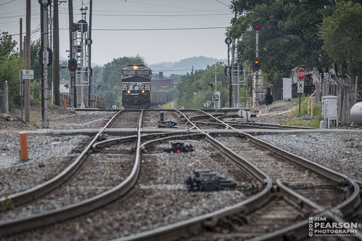 August 18, 2016 – Norfolk Southern 8160 approaches NS's L.S. Junction at Louisville, Ky as it heads north with its loaded coal train.